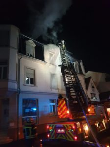 Dachstuhlbrand Marktplatz Silvester 2019