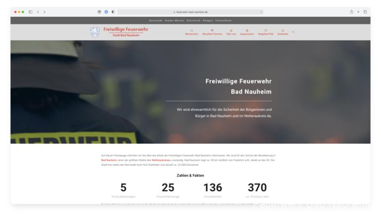 Neugestaltete Homepage online